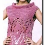 yarım-boğazlı-kolsuz-baklava-dilimli-örgü-bluz-modeli