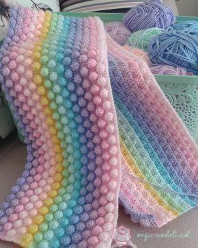 Tığ İşi Bebek Battaniyesi modeli